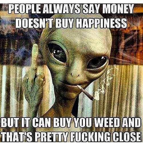 Money Can Buy Happiness-Stoner Meme